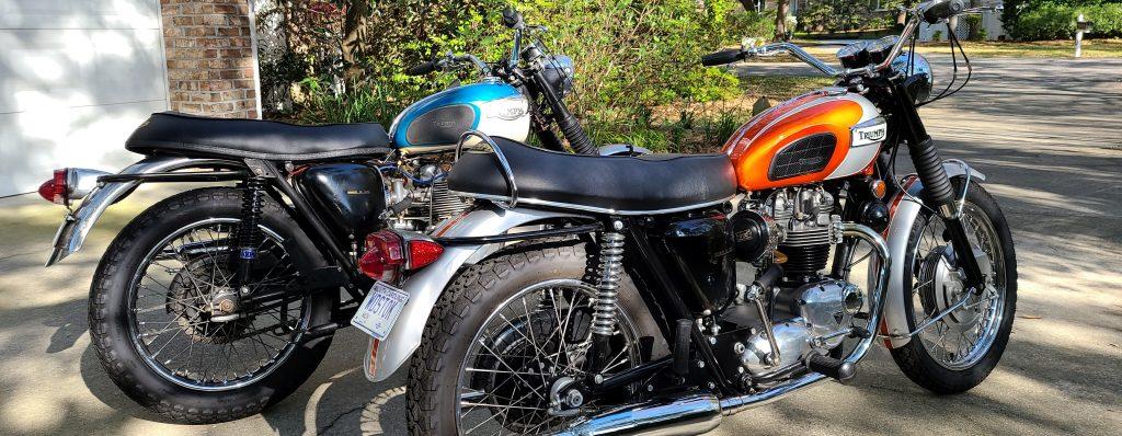 Rod Smith's '69 Triumph Bonneville & '67 Triumph Tiger